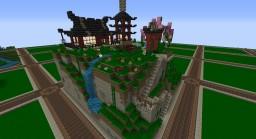 Japanese Temple ( 32² - Plot on Mithrintia server) Minecraft