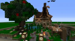 Nordic house with water wheel ( a bit comic like ) Minecraft Map & Project