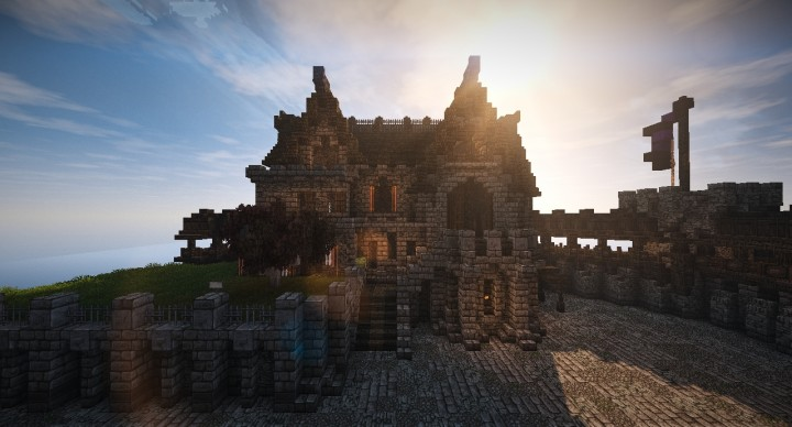how to build a minecraft castle keep