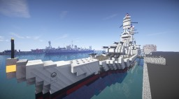 Minecraft Battleship - USS Texas - BBG-70 Minecraft Project