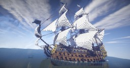 Le Soleil Royal, French Ship 1669 Minecraft Project