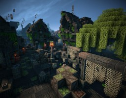 Swampy village Willowcross - Part of Gliria project Minecraft