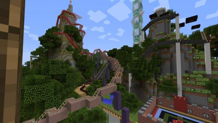 Lunapark Adventure 3 Biggest Theme Park In Minecraft