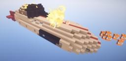 Working Artillery Airship With High Power Long Range Adjustable Arc Scattershot TNT Cannon