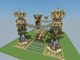Elvish Tower and Bridge Minecraft Map & Project