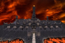 Barad Dur, the dark tower of Sauron.Lord of the Rings. Minecraft