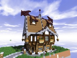 Tavern with dragonroof Minecraft Map & Project
