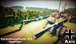 "PanzerKampfläufer VI-E ""Jagdtiger""  Heavy Mech Minecraft Map & Project"
