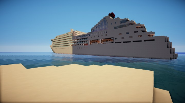 Seabourn Quest Cruise Ship 11 Scale Minecraft39s First