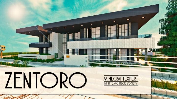 zentoro a conceptual modern home built by minecraft expert