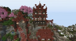 51x51 Plot~ Asian Village Minecraft Map & Project