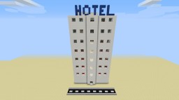 Modern Hotel with a working multi-floor elevator Minecraft Map & Project