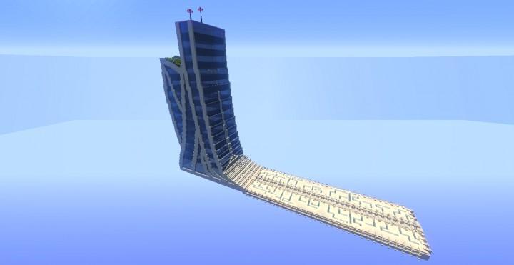 futuristic skyscraper 1 minecraft project