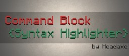 Command Block Syntax Highlighter for Notepad++ Minecraft