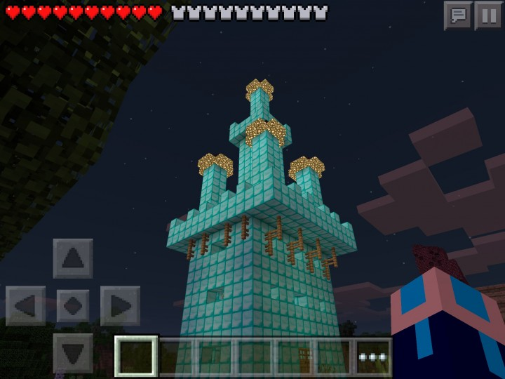 how to make a huge castle in minecraft pe