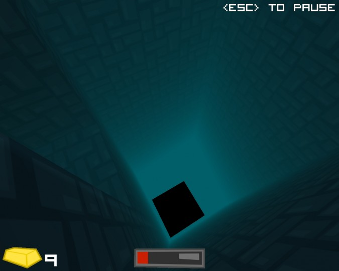 A pit that allows you to escape the whole entire maze. It will later lead to a challenge room.
