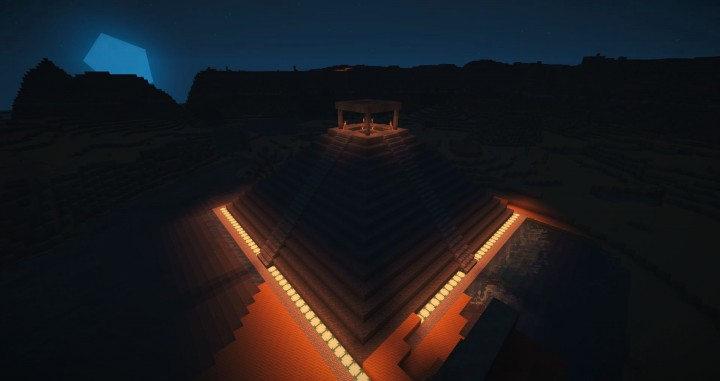 Temple in the night