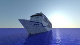Seven Seas Mariner Cruise Ship | 1:1 Scale | Exterior Only Minecraft Map & Project