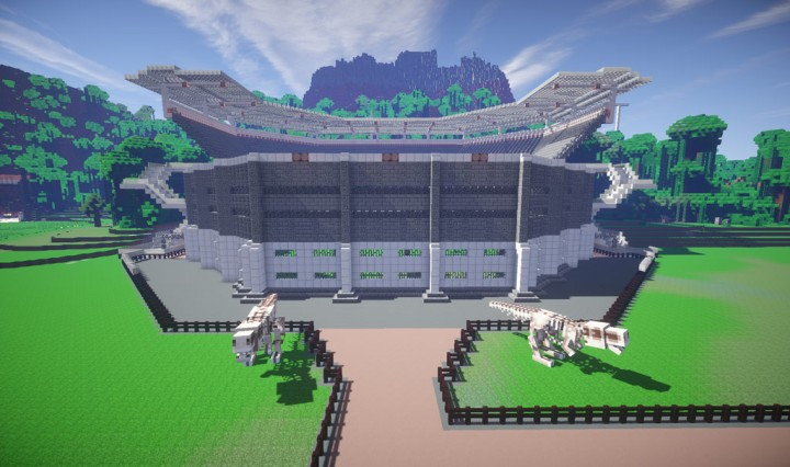Jurassic World Indominus Rex Arena T REX Arena v1 Jurassic Park – Jurassic World Map Minecraft 1 7 10