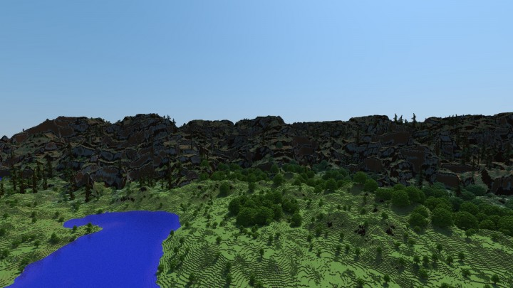 This mountain range was made without erosion, very lightweight in worldmachine.