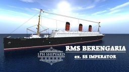 RMS Berengaria, ex. SS Imperator (Imperator Class) Minecraft Map & Project