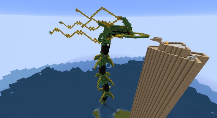 Mega Rayquaza And The Sky Pillar Minecraft Project