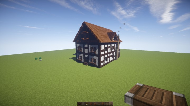 medieval shop german fachhaus style minecraft project