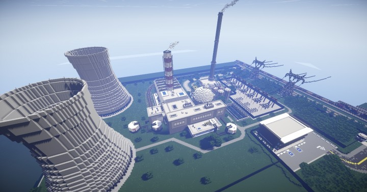 The heart of Mine Countys energy production - the nuclear power plant - which I now realize I havent named.