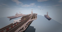 USS Gerald R. Ford (CVN-78) American Supercarrier 1:1 Minecraft Map & Project