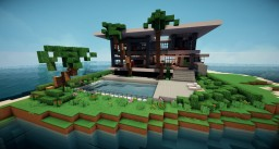Palm Heights | Modern Home Minecraft Map & Project