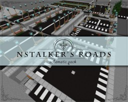 Modern Road System [Schematic Bundle] - 19 Stackable parts Minecraft