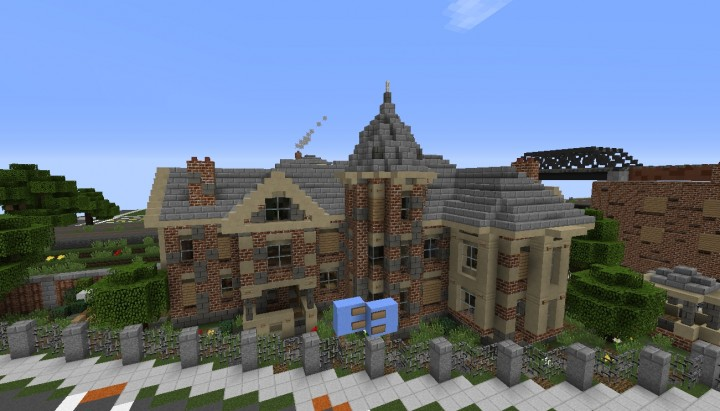 abandoned victorian mansion minecraft project