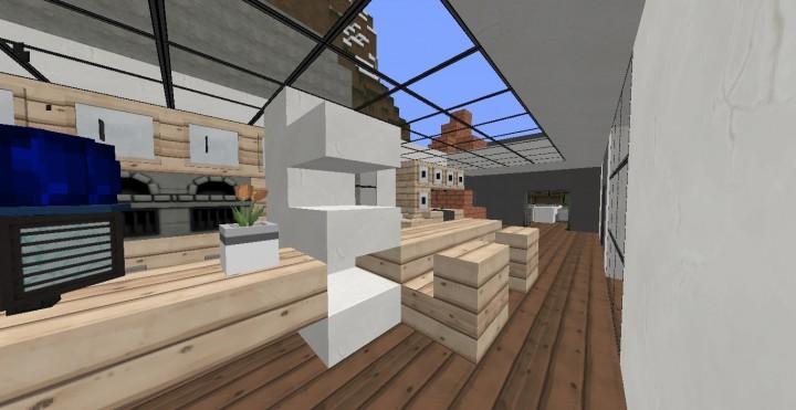 Casa moderna 1 by iwhitepanther minecraft project for Casa moderna 1