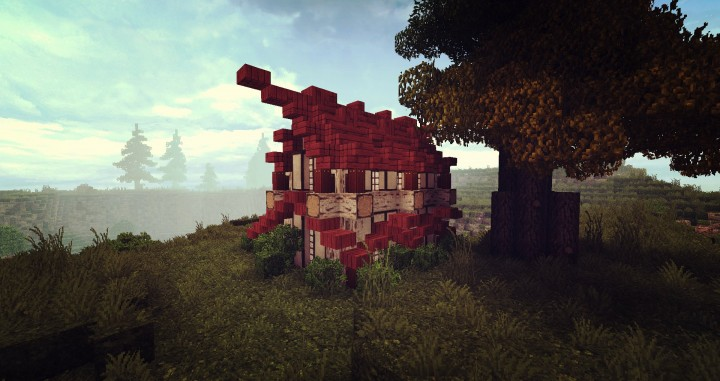 how to build a minecraft house oriental