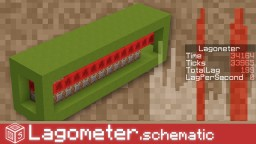 Lagometer in one Schematic Minecraft Map & Project