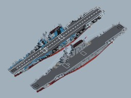WW2 USS CV Lexington Class (Remake) Minecraft Map & Project