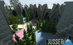 Medieval Hub Spawn (DOWNLOAD)                       -~-a project by Jusser-~- Minecraft Project