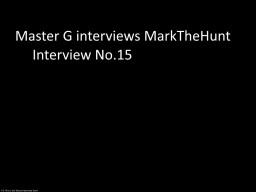 Master G interviews MarkTheHunt Minecraft Blog Post