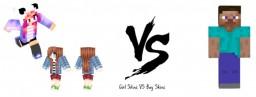 Girl skins vs boy skins Minecraft