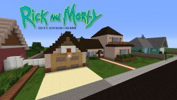 Rick and Morty House (with Neighbor houses) Minecraft Project
