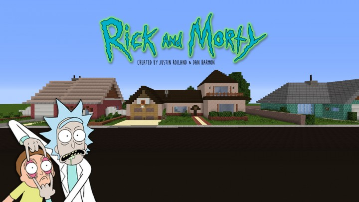 Rick and morty house with neighbor houses minecraft project for Rick and morty craft list