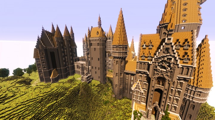 minecraft hogwarts castle map download