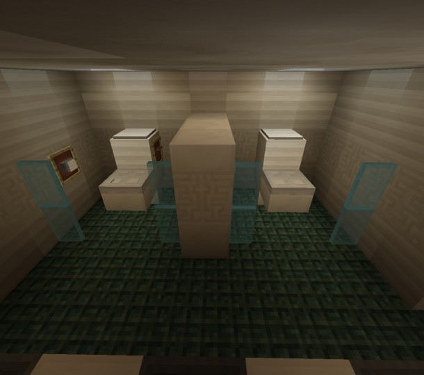 Modern public bathroom i know whatever i was bored for Bathroom designs minecraft