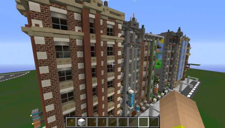 Street Block Full Of Victorian Style Rowhouses Minecraft