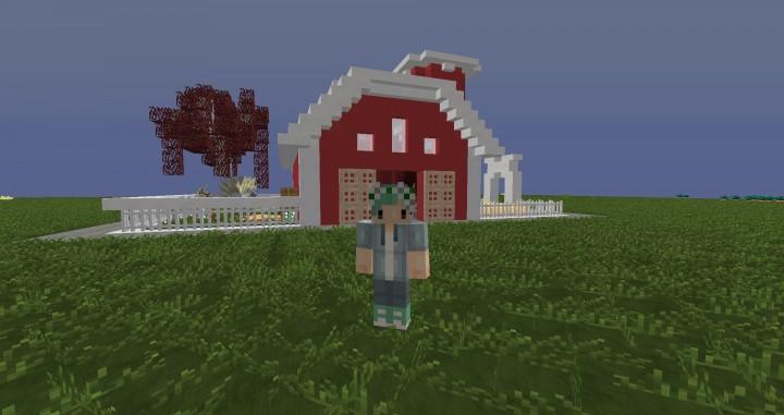 Cute Little Barn 🌼 Minecraft Project