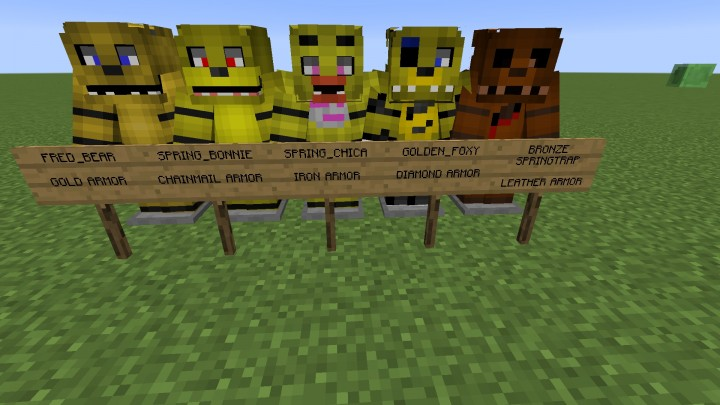 Fredbears family diner resourcepack fan made minecraft texture pack
