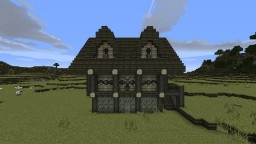 Large Town House Minecraft Map & Project