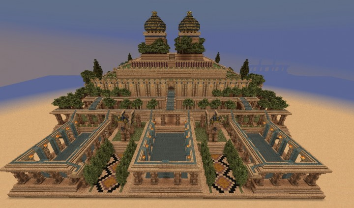 how to draw the hanging gardens of babylon