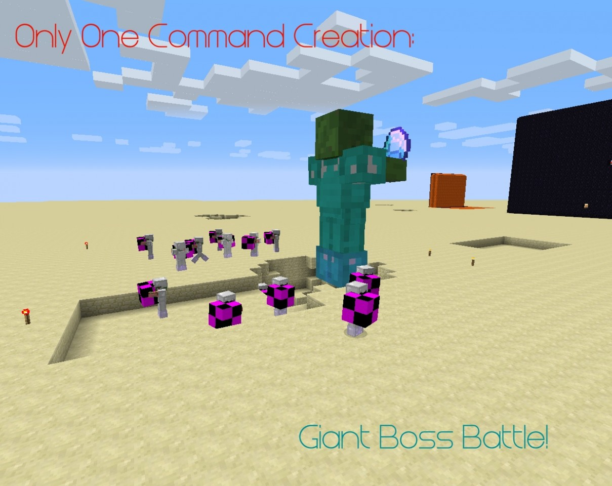 One Command Creation - Giant Boss Battle! Minecraft Project