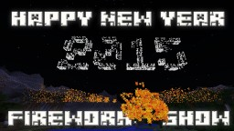 New Year 2015 Fireworks Display Minecraft